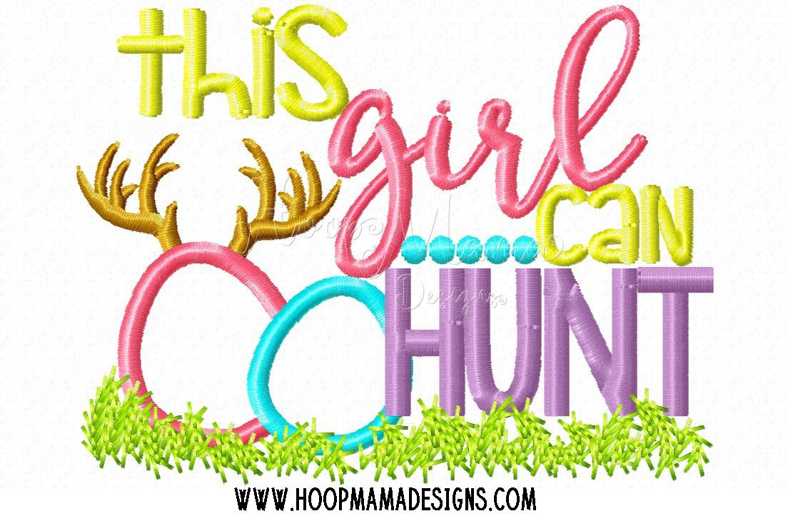 This girl can hunt embroidery cutting options hoopmama