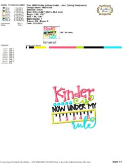 Kinder Is Now Under My Rule Embroidery And Cutting Options Hoopmama