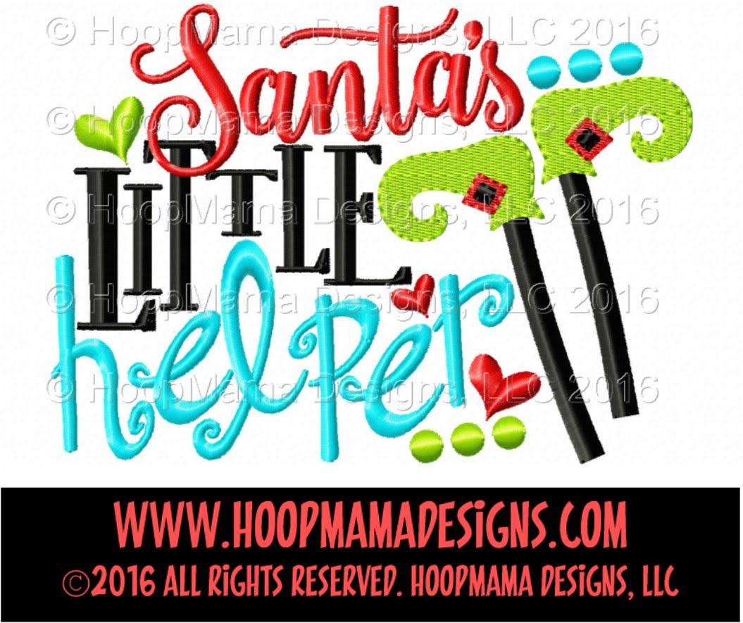 Santa S Little Helper Embroidery And Cutting Options Hoopmama