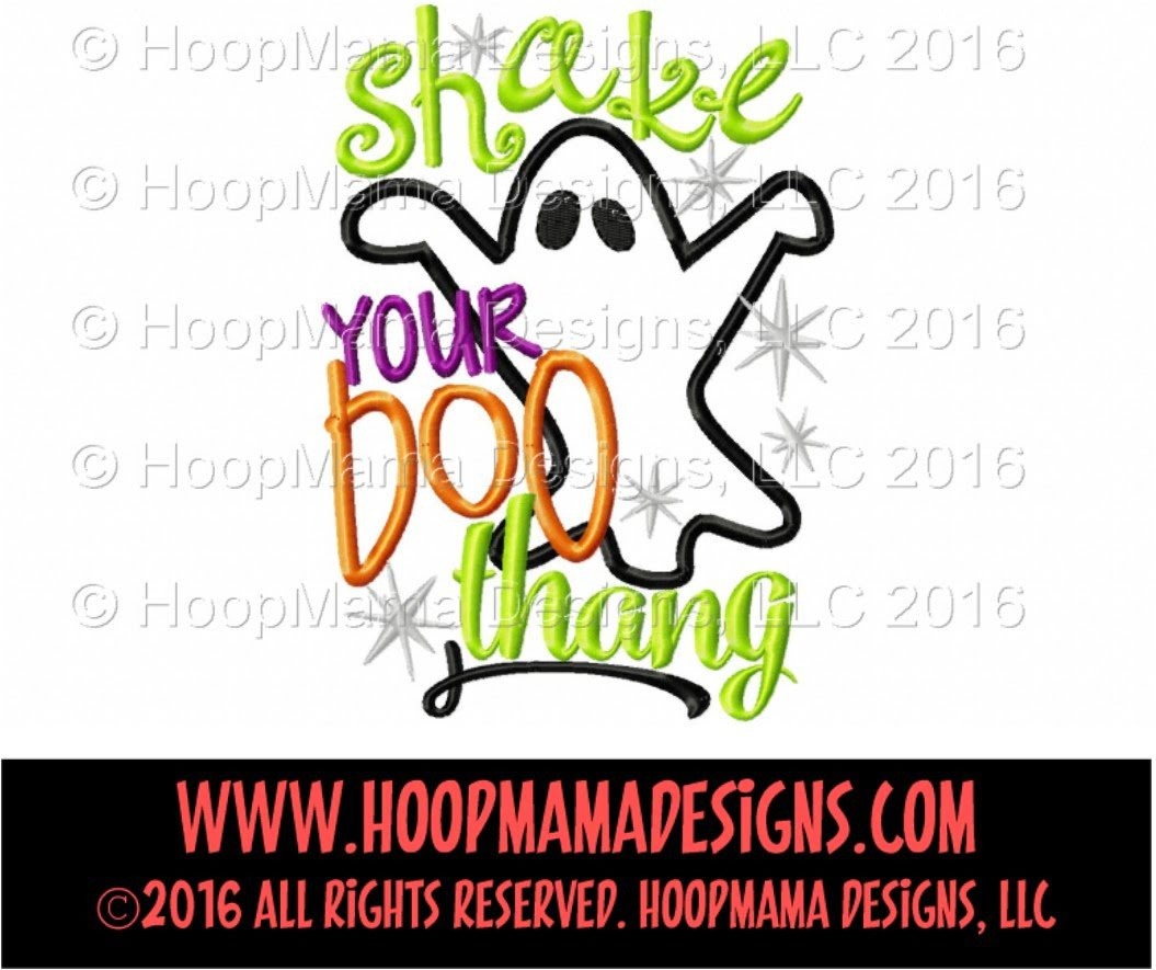Shake Your Boo Thang Embroidery And Cutting Options Hoopmama
