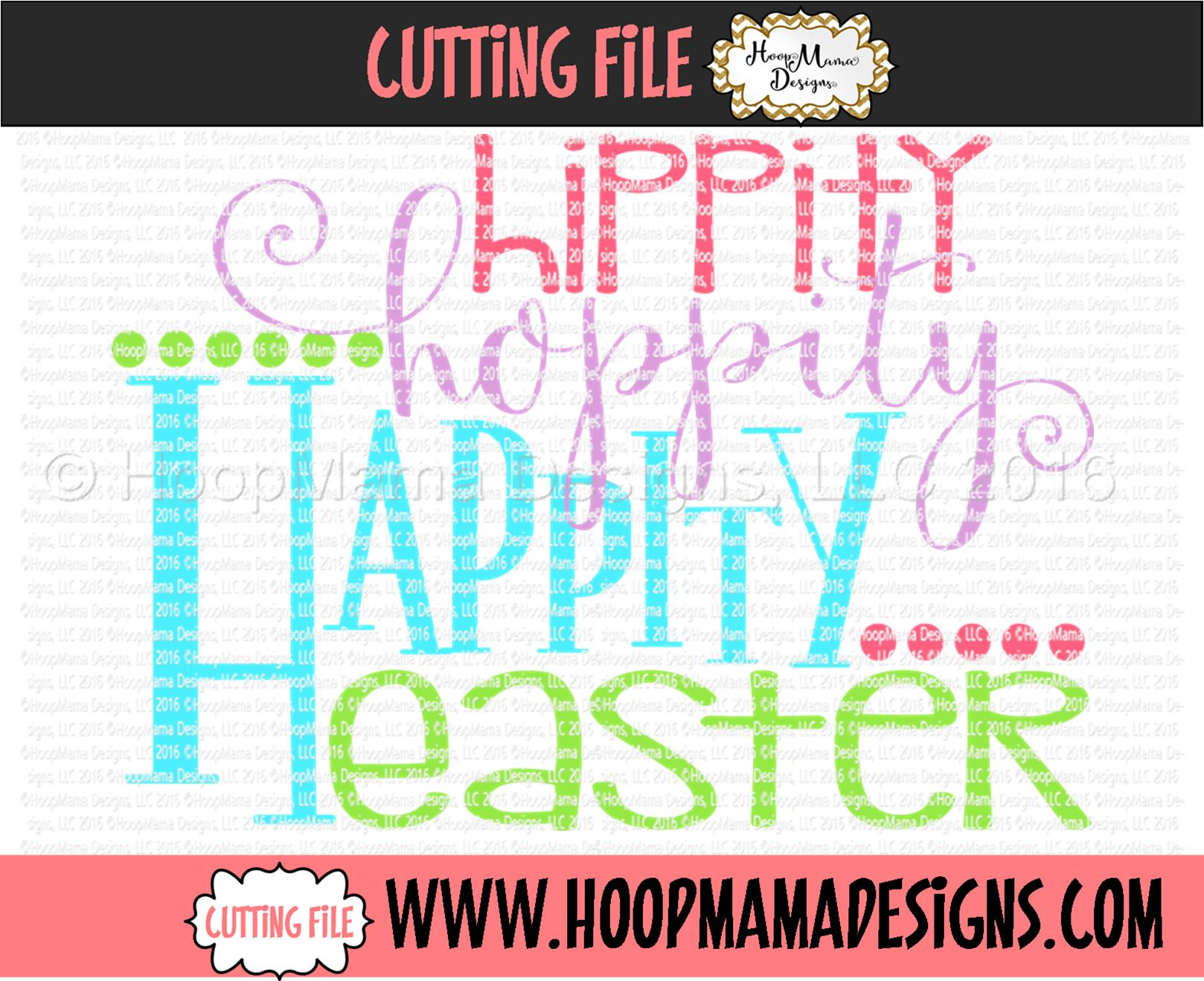 Hippity Hoppity Happity Easter Embroidery And Cutting Options Hoopmama