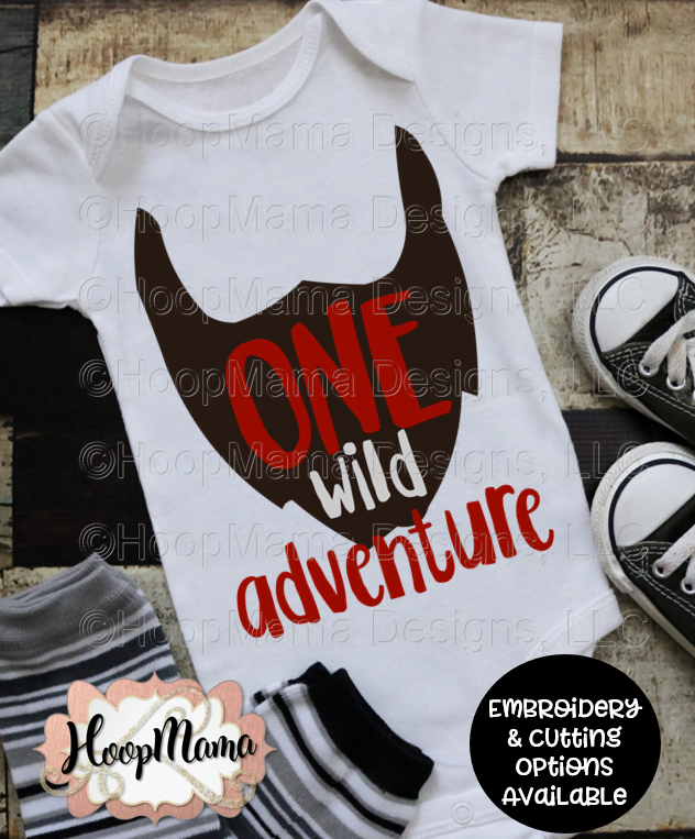 One wild adventure boy embroidery and cutting options