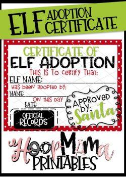 elf adoption certificate printable download free today 82 only - Elf Adoption Certificate Template
