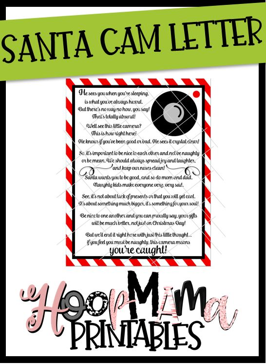 photo about Camera Printable named Santa Digicam Letter Printable Obtain