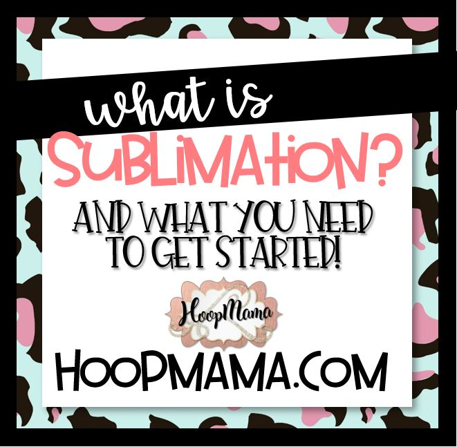 what is sublimation