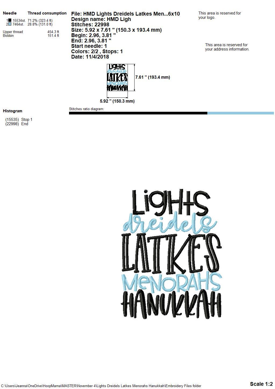 Lights Dreidels Latkes Menorahs Hanukkah Embroidery And Cutting Menorah Lighting Diagram 350