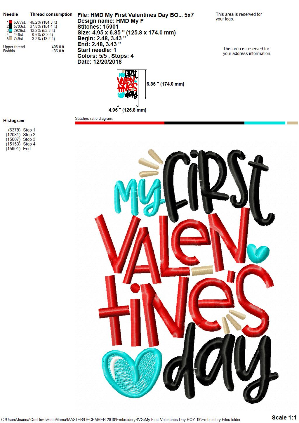 First Christmas In Our New Home Svg.My First Valentine S Day Boy 18 Embroidery And Cutting Options