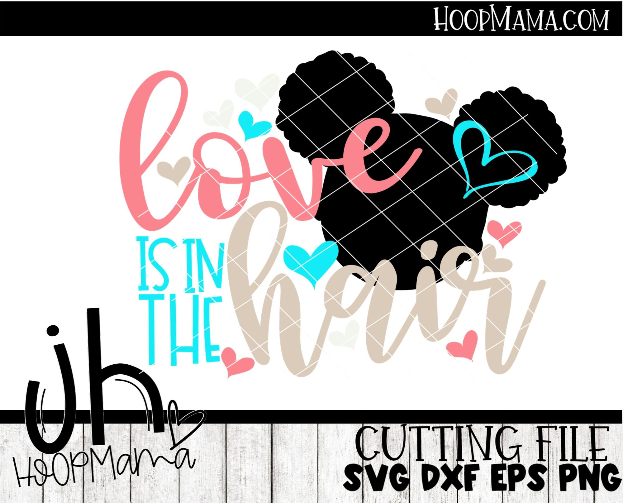 Love Is In The Hair Embroidery And Cutting Options Hoopmama