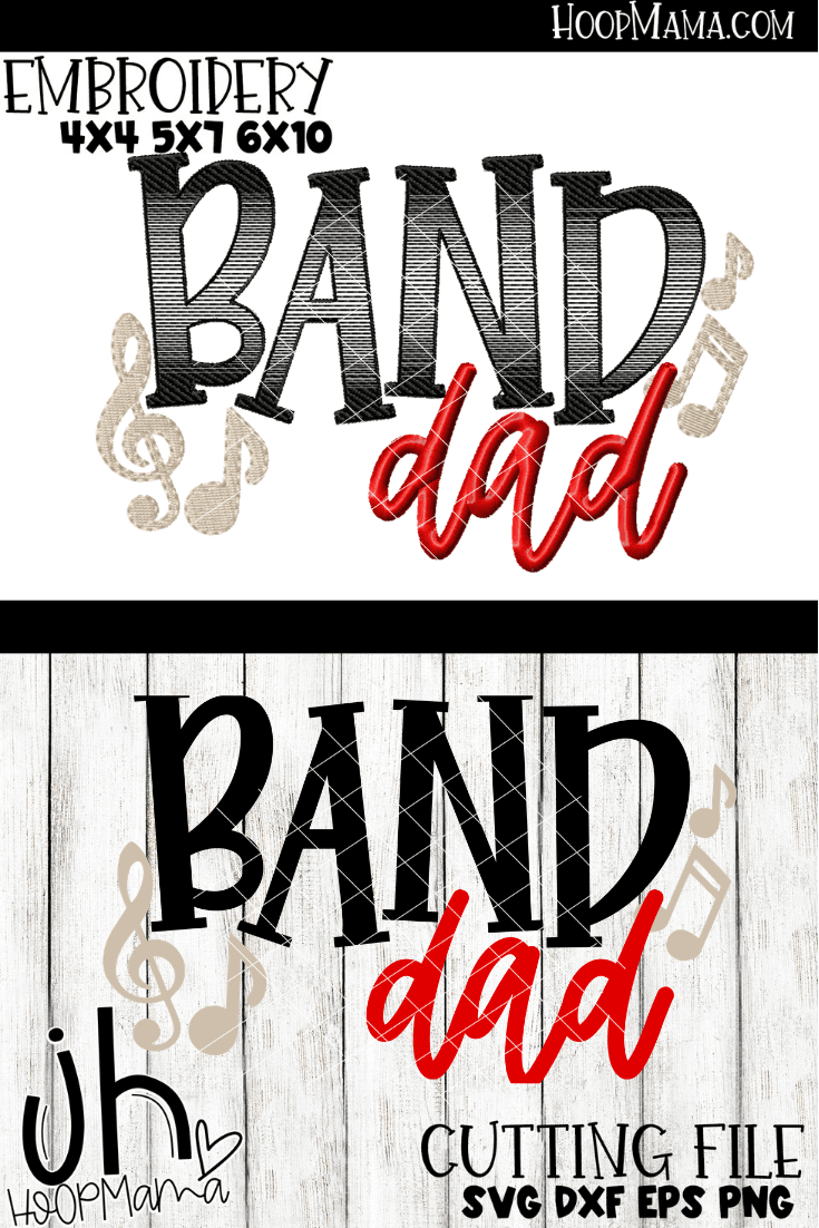 Band Embroidery & Cutting Bundle - 15 designs!